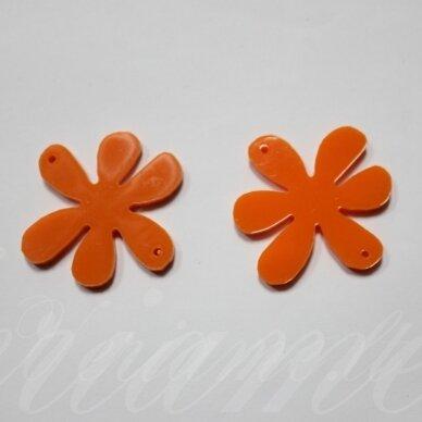 osp2h02-gel-22x22 apie 22 x 22 mm, gėlytės forma, organinis stiklas, pakabuko detalė, 1 vnt.
