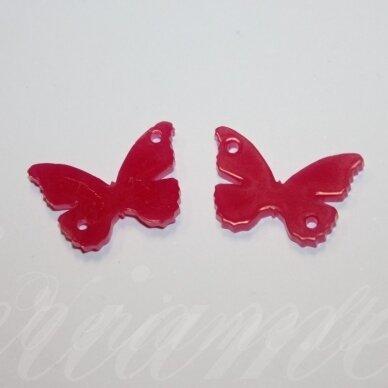 osp3h00-drug-24x16. apie 24 x 16 mm, drugelio forma, organinis stiklas, pakabuko detalė, 1 vnt.