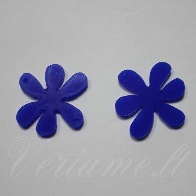 osp5h01-gel-22x22. apie 22 x 22 mm, gėlytės forma, organinis stiklas, pakabuko detalė, 1 vnt.