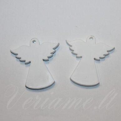 ospwh01-angel-33x34 apie 33 x 34 mm, angelo forma, organinis stiklas, pakabuko detalė, 1 vnt.