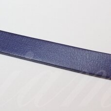 ov0085-10x2-1m about 10 x 2 mm, dark, blue color, flat, natural skin, rope, 1 m.