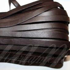 ov0008-10x2-1m about 10 x 2 mm, dark, brown color, flat, natural skin, rope, 1 m.