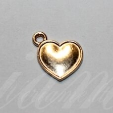pak0026 about 16 x 14 x 2 mm, light, gold color, metal pendant, 1 pc.