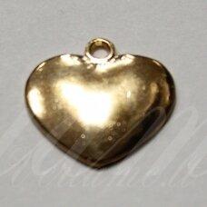 pak0043 apie 17.5 x 17.5 x 2 mm, rusiško aukso spalva, metalinis pakabukas, 1 vnt.