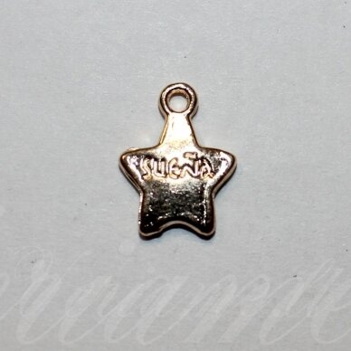 pak0027 about 15 x 11.5 x 2 mm, light, gold color, metal pendant, 1 pc.