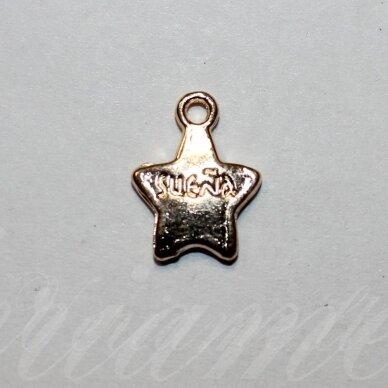 pak0027 about 15 x 11.5 x 2 mm, light, gold color, metal pendant, 1 pc.