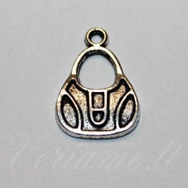 pak0514 about 21.5 x 15 x 2 mm, metal color, metal pendant, 1 pc.