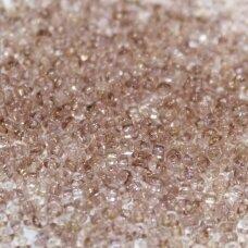 pccb00628-11/0 2.0 - 2.2 mm, apvali forma, skaidrus, rusva spalva, apie 50 g.