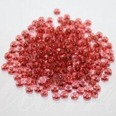 PCCB00084-06/0 3.7 - 4.3 mm, apvali forma, skaidrus, viduriukas rusva spalva, apie 50 g.