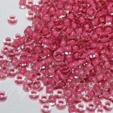 pccb00222-10/0 2.2 - 2.4 mm, apvali forma, skaidrus, viduriukas rausva spalva, apie 50 g.