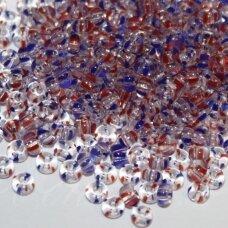 PCCB00931-08/0 2.8 - 3.2 mm, apvali forma, skaidrus, marga spalva, apie 50 g.