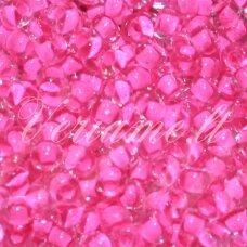 pccb01062-10/0 2.2 - 2.4 mm, apvali forma, skaidrus, viduriukas rožinė spalva, apie 50 g.