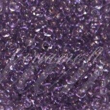 pccb01122-11/0 2.0 - 2.2 mm, apvali forma, skaidrus, violetinė spalva, apie 50 g.