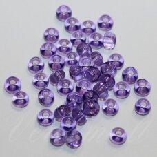 pccb01123-06/0 3.7 - 4.3 mm, apvali forma, skaidrus, violetinė spalva, apie 50 g.