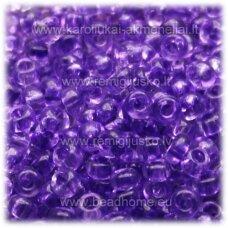 PCCB01123-09/0 2.4 - 2.8 mm, apvali forma, skaidrus, violetinė spalva, apie 50 g.