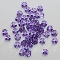pccb01123-11/0 2.0 - 2.2 mm, apvali forma, skaidrus, violetinė spalva, apie 50 g.