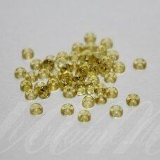 pccb01151-10/0 2.2 - 2.4 mm, apvali forma, skaidrus, tamsi, geltona spalva, apie 50 g.