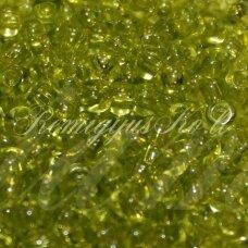 pccb01153-11/0 2.0 - 2.2 mm, skaidrus, žalia spalva, apie 50 g.