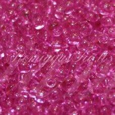 pccb01192-11/0 2.0 - 2.2 mm, apvali forma, rožinė spalva, apie 50 g.