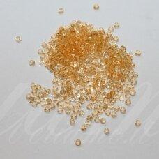 pccb01283-10/0 2.2 - 2.4 mm, apvali forma, skaidrus, oranžinė spalva, apie 50 g.