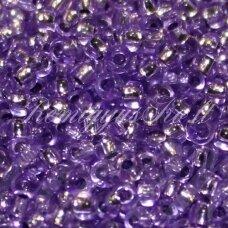 pccb08228-08/0 2.8 - 3.2 mm, apvali forma, skaidrus, violetinė spalva, viduriukas su folija, apie 50 g.