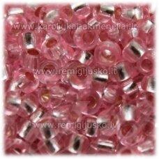 pccb08275-08/0 2.8 - 3.2 mm, apvali forma, skaidrus, rožinė spalva, apie 50 g.