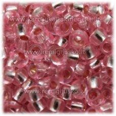 pccb08275-09/0 2.4 - 2.8 mm, apvali forma, skaidrus, rožinė spalva, apie 50 g.
