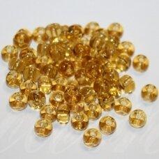 PCCB10020-03/0 5.3 - 5.8 mm, apvali forma, skaidrus, geltona spalva, apie 50 g.