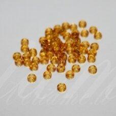 PCCB10050-15/0 1.4 - 1.5 mm, apvali forma, skaidrus, rusva spalva, apie 50 g.