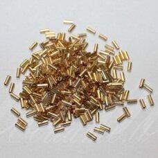 """PCCB12001/18304-2"""" 4.5 x 2 mm, pailga forma, auksinė spalva, apie 50 g."""