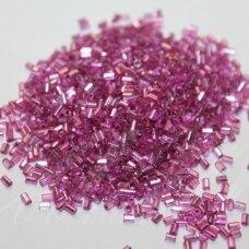 """pccb22001/08228-1"""" 2.2 x 1.4 mm, pailga forma, šviesi, rožinė spalva, viduriukas su folija, apie 50 g."""