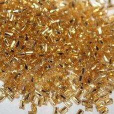 """pccb12001/17020-1"""" 2.2 x 1.4 mm, pailga forma, auksinė spalva, viduriukas su folija, apie 50 g."""