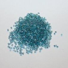 """pccb12001/78134-0.5"""" 1.5 x 1.2 mm, pailga forma, žydra spalva, viduriukas su folija, apie 50 g."""