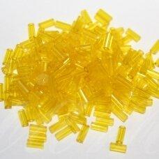 """pccb12001/80010-3"""" 6.5 x 2 mm, pailga forma, skaidrus, geltona spalva, apie 50 g."""