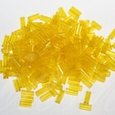 """PCCB12001/80010-2"""" 4.5 x 2 mm, pailga forma, skaidrus geltona spalva, apie 50 g."""