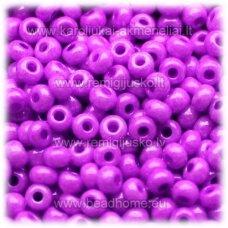 pccb16125-10/0 2.2 - 2.4 mm, apvali forma, violetinė spalva, apie 50 g.