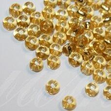 pccb17020-09/0 2.4 - 2.8 mm, apvali forma, skaidrus, geltona spalva, viduriukas su folija, apie 50 g.
