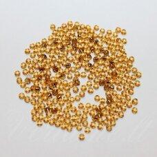 PCCB17070-04/0 4.8 - 5.3 mm, apvali forma, gintaro spalva, viduriukas, su folija, apie 50 g.
