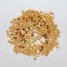 PCCB17070-07/0 3.2 - 3.7 mm, apvali forma, gintaro spalva, viduriukas, su folija, apie 50 g.