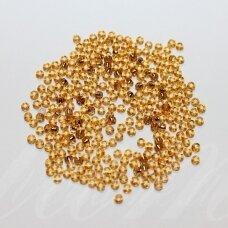 pccb17070-10/0 2.2 - 2.4 mm, apvali forma, gintaro spalva, viduriukas su folija, apie 50 g.