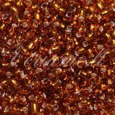 pccb17090-08/0 2.8 - 3.2 mm, apvali forma, skaidrus, gintaro spalva, viduriukas su folija, apie 50 g.