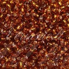 pccb17090-09/0 2.4 - 2.8 mm, apvali forma, skaidrus, gintaro spalva, viduriukas su folija, apie 50 g.