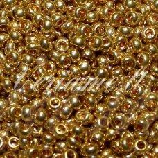 pccb18388-08/0 2.8 - 3.2 mm, apvali forma, auksinė spalva, apie 50 g.