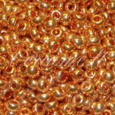 pccb18389-10/0 2.2 - 2.4 mm, apvali forma, auksinė spalva, apie 50 g.