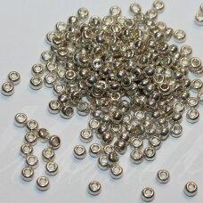 pccb18503-08/0 2.8 - 3.2 mm, apvali forma, sidabrinė spalva, apie 50 g.