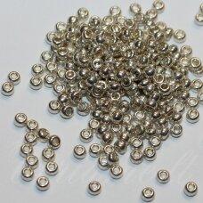 pccb18503-09/0 2.4 - 2.8 mm, apvali forma, sidabrinė spalva, apie 50 g.