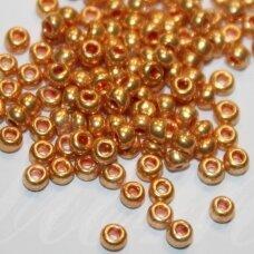 pccb18583-08/0 2.8 - 3.2 mm, apvali forma, auksinė spalva, apie 50 g.