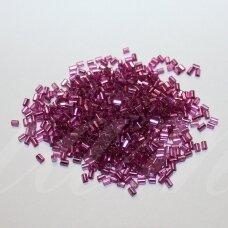 """pccb22001/08225-1"""" 2.2 x 1.4 mm, pailga forma, šviesi, violetinė spalva, viduriukas su folija, apie 50 g."""