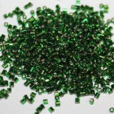 """pccb22001/57060-1"""" 2.2 x 1.4 mm, pailga forma, žalia spalva, viduriukas su folija, apie 50 g."""