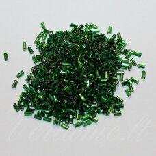 """pccb22001/57120-1"""" 2.2 x 1.4 mm, pailga forma, žalia spalva, viduriukas su folija, apie 50 g."""